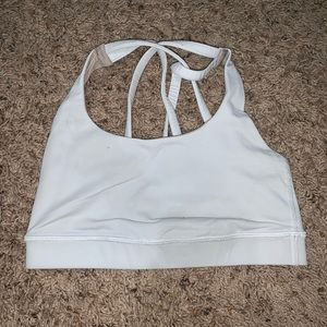 white lulu lemon sports bra.